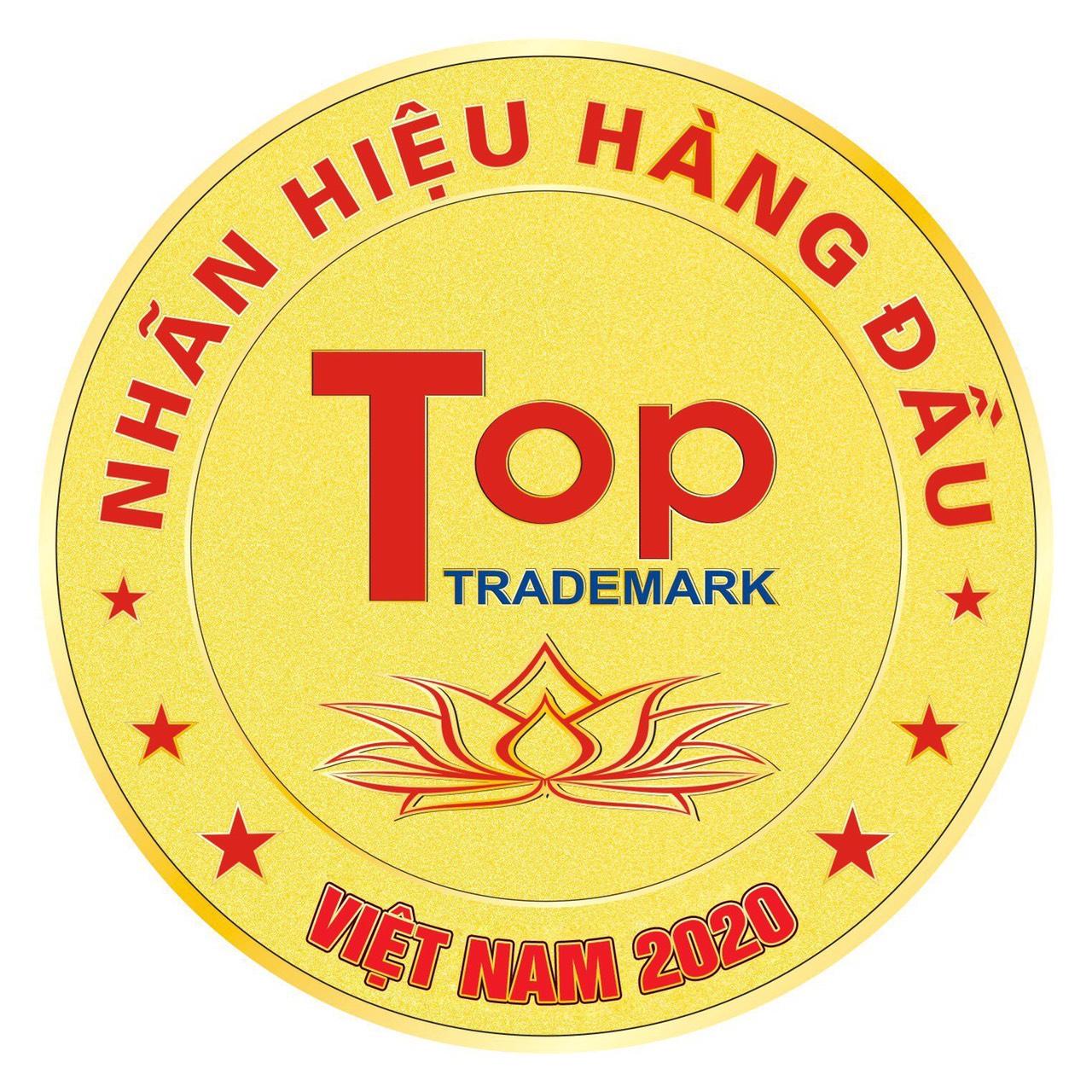 Nhãn hiệu hàng đầu Việt Nam (2017, 2018, 2019, 2020 - Hội sở Hữu Trí tuệ Việt Nam xếp hạng)