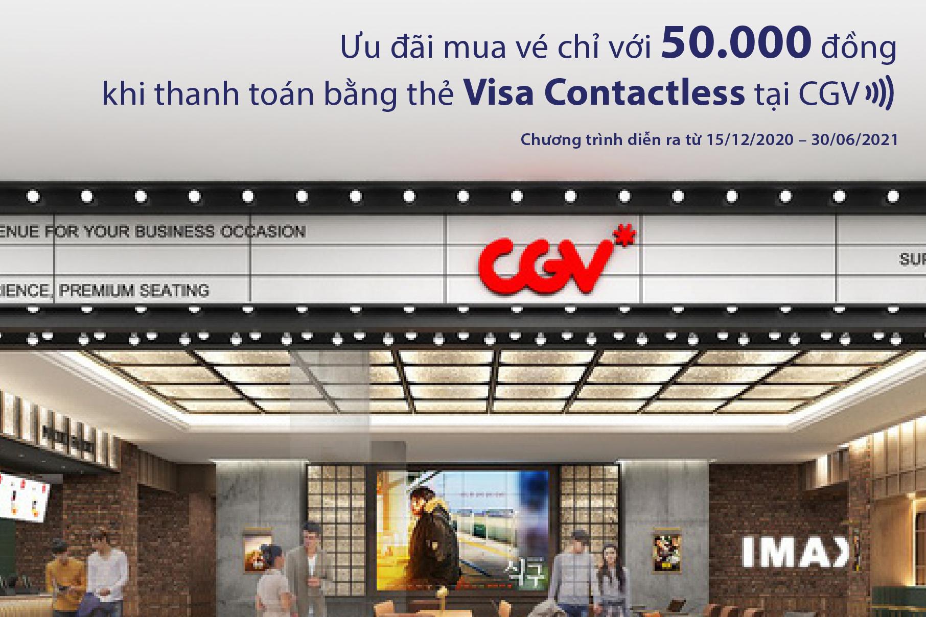 Ưu đãi mua vé chỉ với 50.000đ khi thanh toán bằng thẻ Visa Contactless