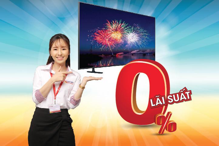 Sở hữu tivi SAMSUNG không lo lãi suất