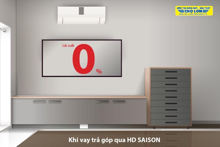Mua sắm dễ dàng qua HD SAISON tại Siêu thị Điện máy - Nội thất Chợ Lớn
