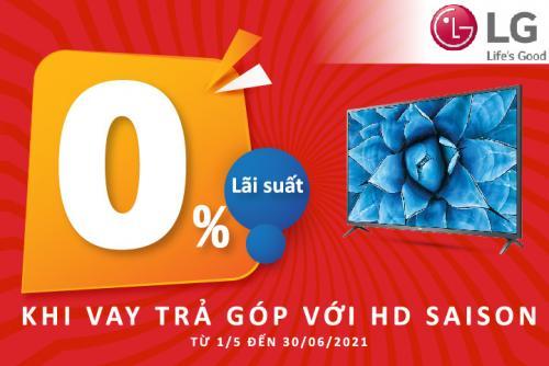 Sở hữu tivi LG dễ dàng với HD SAISON