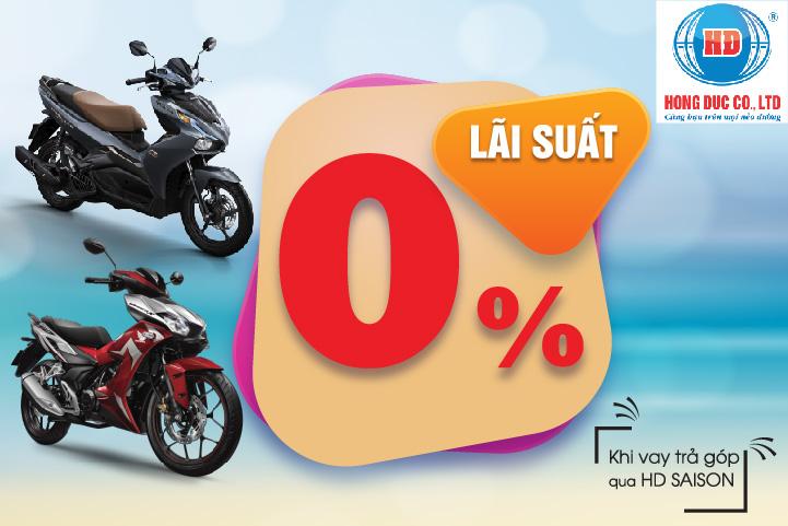 Ưu đãi 0% khi sắm xe Honda tại Hệ thống cửa hàng Hồng Đức