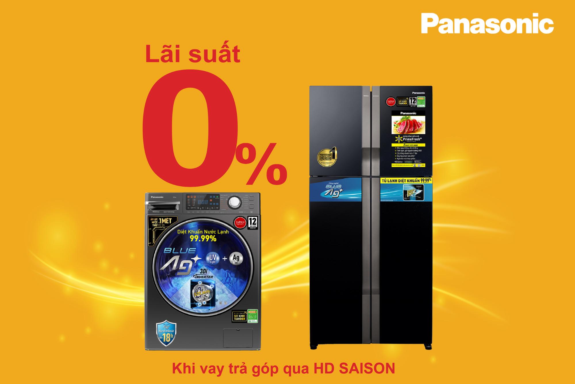 Miễn lãi khi sắm sản phẩm Panasonic